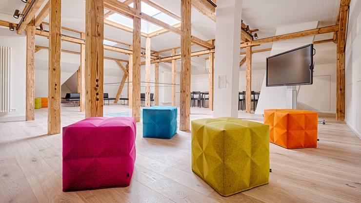 Das Kreativzimmer – neu im Dachgeschoss der Villa Boveri.