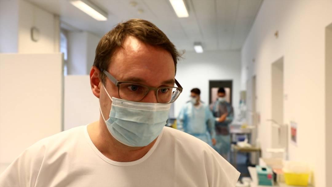 """""""Testen, testen, testen"""": Einblick ins Covid-19-Testzentrum am Kantonsspital Aarau"""