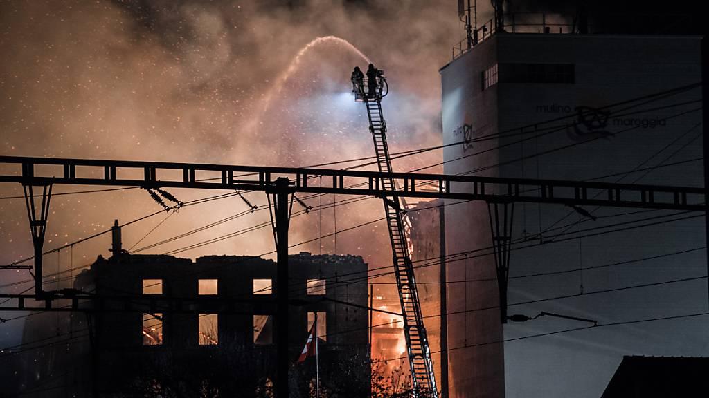 Grossbrand in Mühle am Luganersee gelöscht