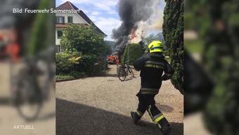 Bub setzt beim zündeln Auto in Brand