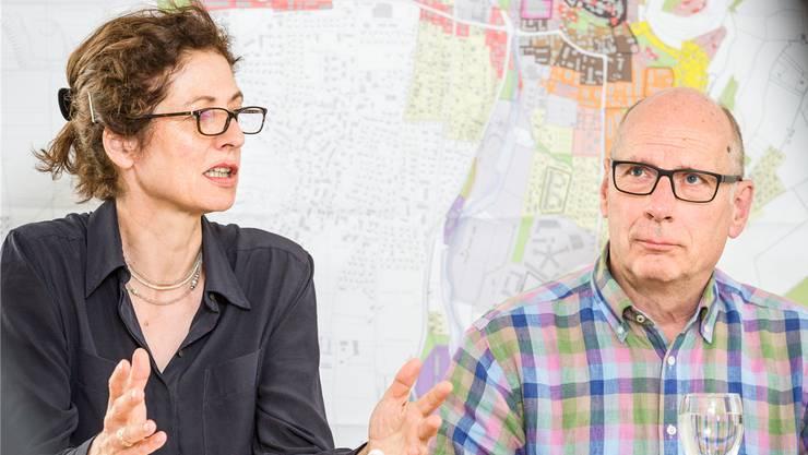 Stadtplanerin Helen Bisang im April mit SVP-Stadtrat Martin Stücheli.