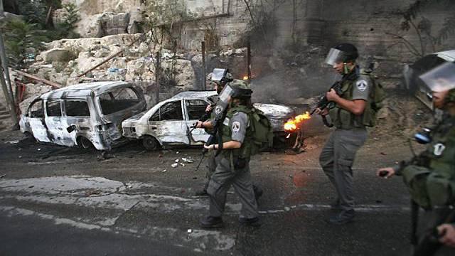 Polizei in Ost-Jerusalem im Einsatz