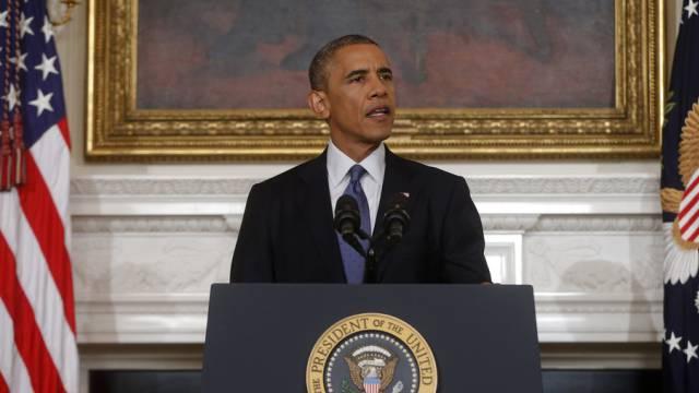 US-Präsident Obama kündigt die Luftangriffe an