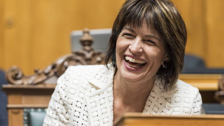 Die abtretende Bundesrätin Doris Leuthard.