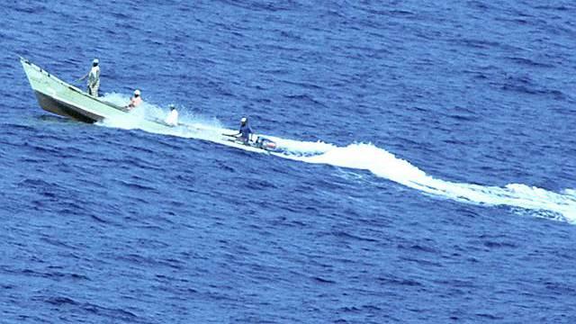 Somalische Piraten auf hoher See