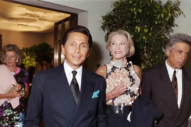 Modeschöpfer Valentino, 1991