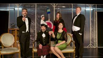 Die Crew von Royal Arts beim Gastspiel in der Mausefalle.