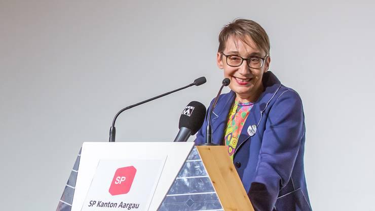 Sitzt seit 12 Jahren im Grossen Rat: Elisabeth Burgener, hier am SP-Parteitag in Spreitenbach.