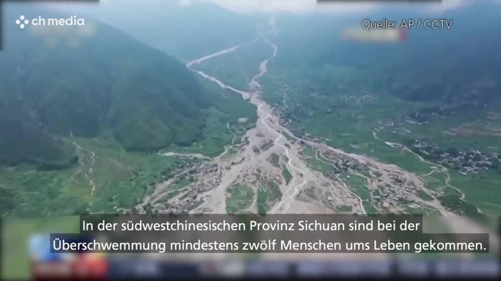 12 Tote und zehn Vermisste nach Überschwemmung in China