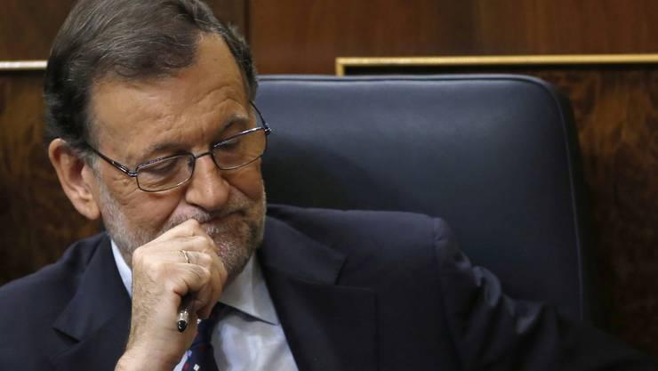 Mariano Rajoy während der Debatte