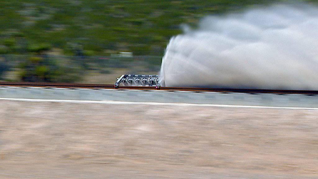 Der erste Test des Hyperloop-Systems im Mai 2016. Weitere Tests sollen dieses Jahr folgen. (Archiv)