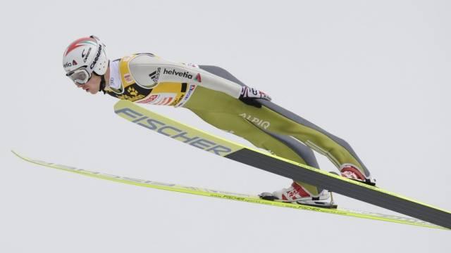 Simon Ammann flog in der Qualifikation auf 134 Meter