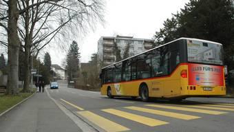 Bushaltestelle an der Laurstrasse: Karin Graf-Herde, SP, setzte sich für eine Verkehrsberuhigung ein.