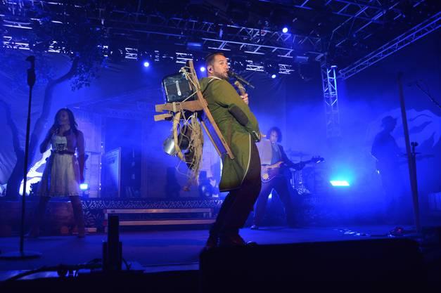 Impressionen von der Pop-Rock-Night Schupfart Festival 2018. Auftritt von Trauffer.
