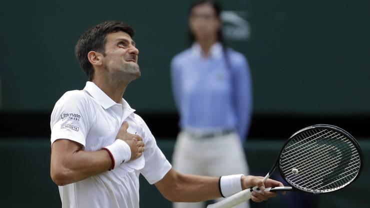 Siegerjubel: Novak Djokovic.
