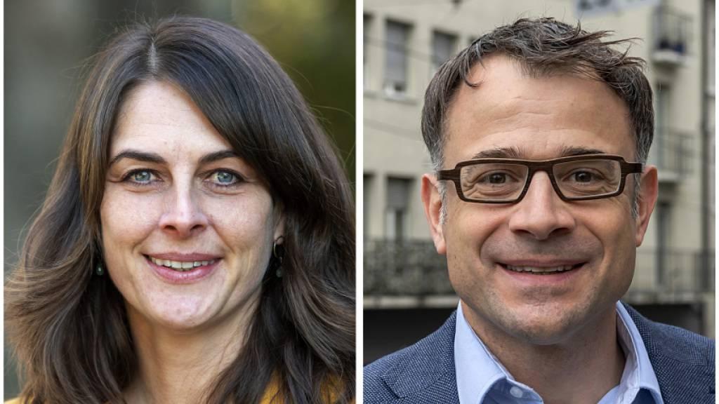 Schaffen gemäss Zwischenresultat den Sprung in die Basler Regierung: Stephanie Eymann (LDP), Kaspar Sutter (SP) und Esther Keller (GLP).