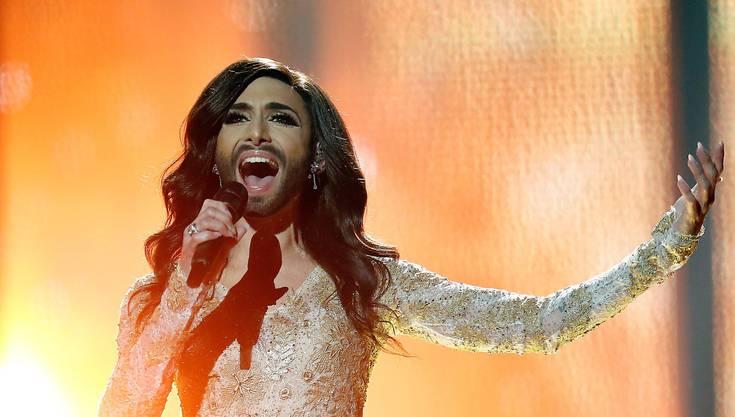 Conchita Wurst bei ihrem Halbfinal-Auftritt am Eurovision Song Contest vom Donnerstag.