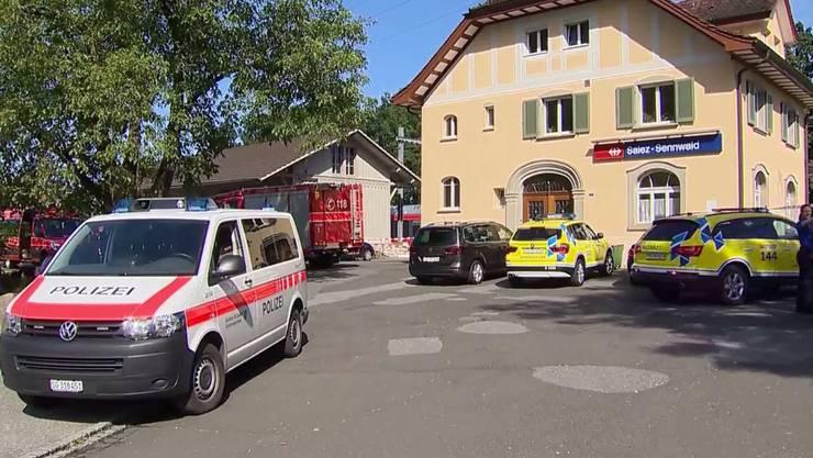 Nach der Attacke im Zug bei Salez befinden sich noch immer fünf Personen im Spital.