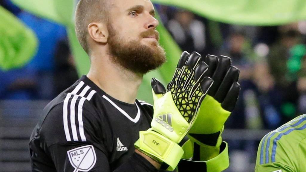 Seattle-Torhüter Stefan Frei scheitert mit seinem Team an Dallas. (AP Photo/Ted S. Warren)