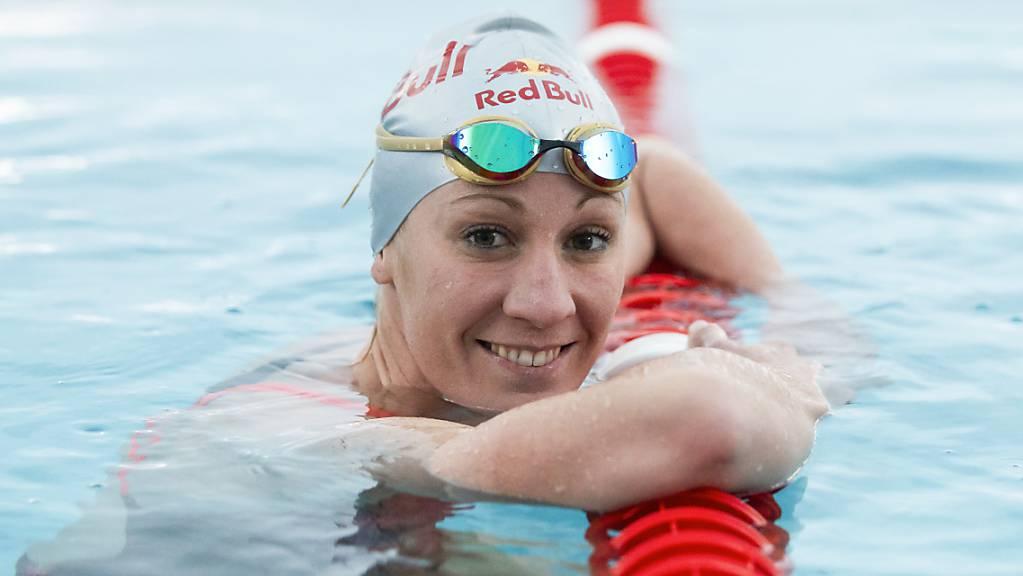 Die Triathletin Daniela Ryf im November 2019 während eines Trainings in der Schwimmhalle in Zuchwil.