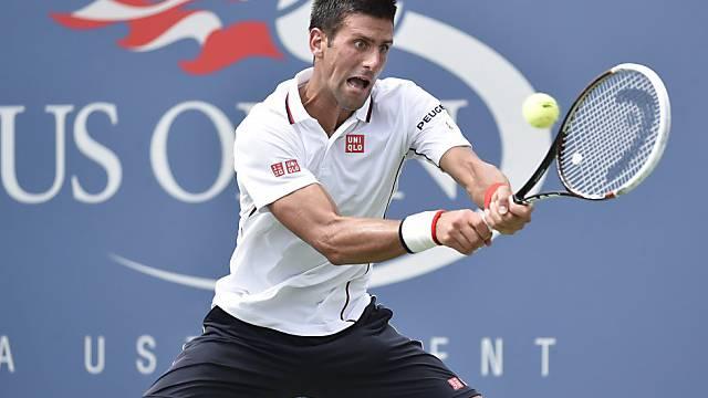 Novak Djokovic erreicht problemlos die Viertelfinals beim US Open.