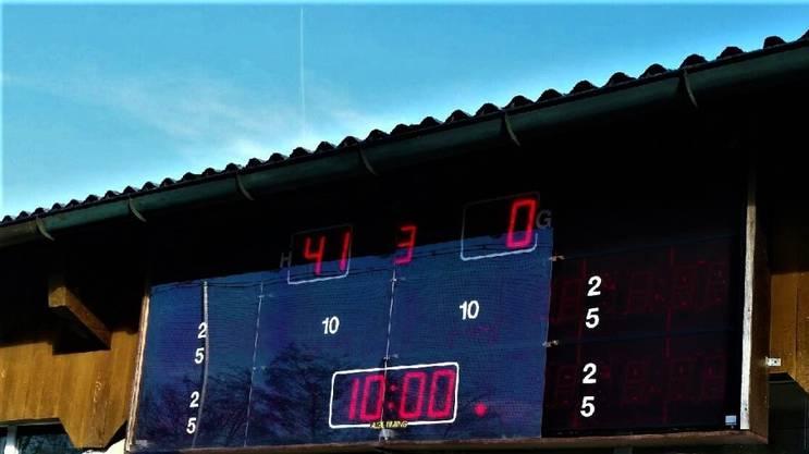 Das Scoreboard mit dem historischen Resultat