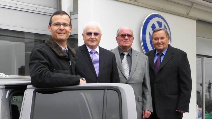 Die Verantwortlichen (v.l.) Antonius, Primus, Peter und Viktor Ackermann, es fehlt Daniel Ackermann, Verwaltungsratspräsident.
