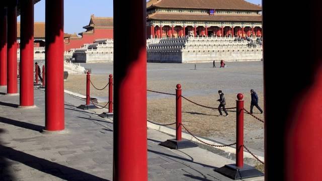 Blick in die verbotene Stadt in Peking (Archiv)