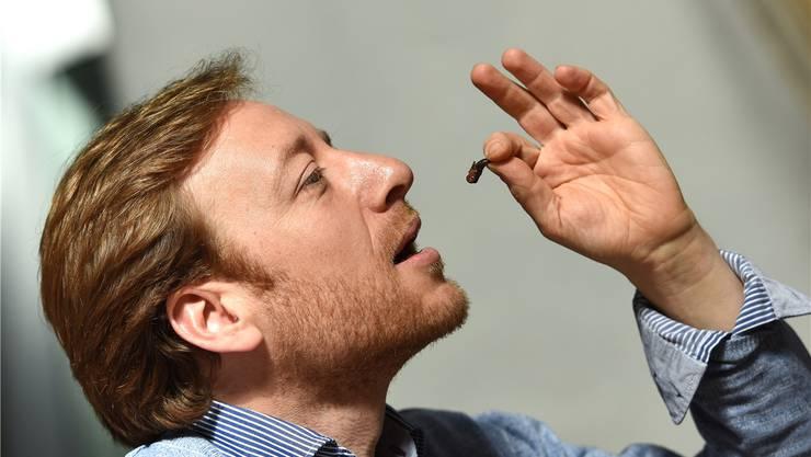 Roger Greiner wird die Insekten bereits im Mai in seiner Bollwerk-Buvette auf die Karte nehmen.