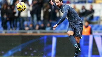 Napolis Matchwinner im Spiel gegen Lazio: Gonzalo Higuain