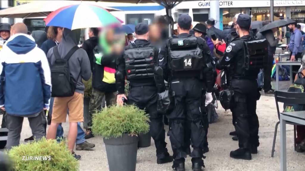 Ungleiche Behandlung: Corona-Demonstranten mit Vorwürfen gegen die Polizei