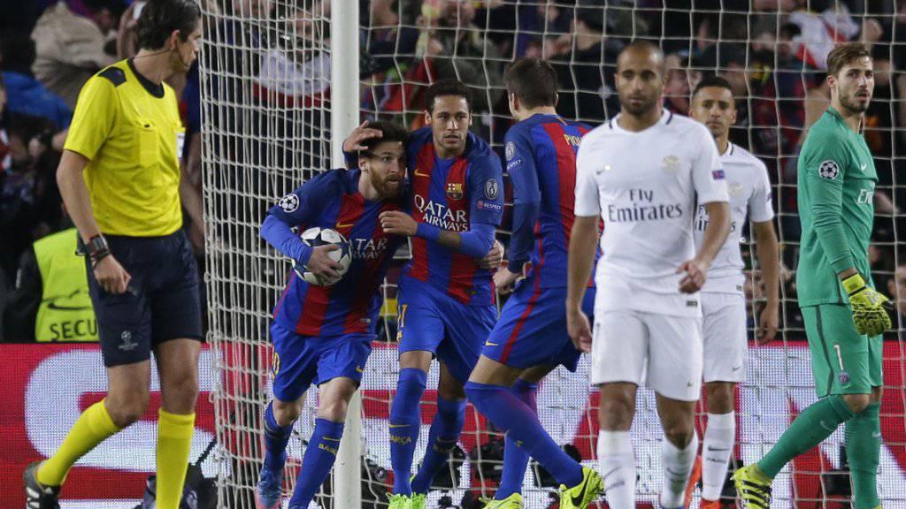 Messi und Neymar verhalfen Barcelona zum Kantersieg