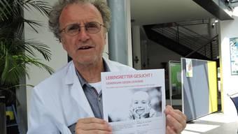 Manfred Gartner will mit der geplanten Aktion am 22. Juni, zusammen mit Swiss Blood Stem Cells, auf Leukämie aufmerksam machen.