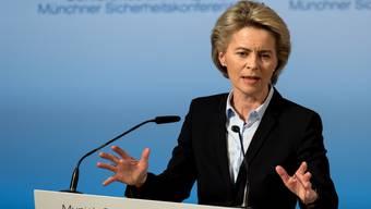 Die deutsche Verteidigungsministerin Ursula von der Leyen eröffnet die Münchner Sicherheitskonferenz.