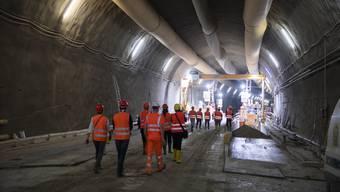 Der Bau der dritten Tunnelröhrer schreitet voran. (Archiv)