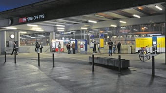Auf der Windischer Seite des Bahnhofs Brugg treffen sich die Randständigen.