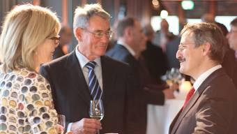 Die Zürcher Bildungsdirektorin Regine Aeppli, Universitätsrat Urs Oberholzer und Unirektor Michael Hengartner.