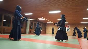 Kendo-Schweizermeisterschaften 2016 in Aarau: zu Gast im Training beim Aarauer Kendo-Klub Ten Do Kan
