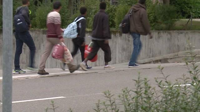 19.8.2015: Bezug der Asylunterkunft im Kantonsspital Baden.