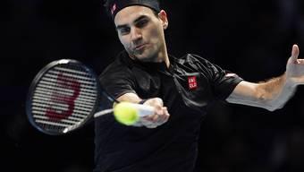 Geglückte Reaktion auf die Niederlage im ersten Gruppenspiel: Roger Federer wahrte an den ATP Finals seine Chance auf die Halbfinals mit einem Zweisatz-Sieg gegen Matteo Berrettini