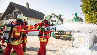 Feuerwehrübung Recherswil