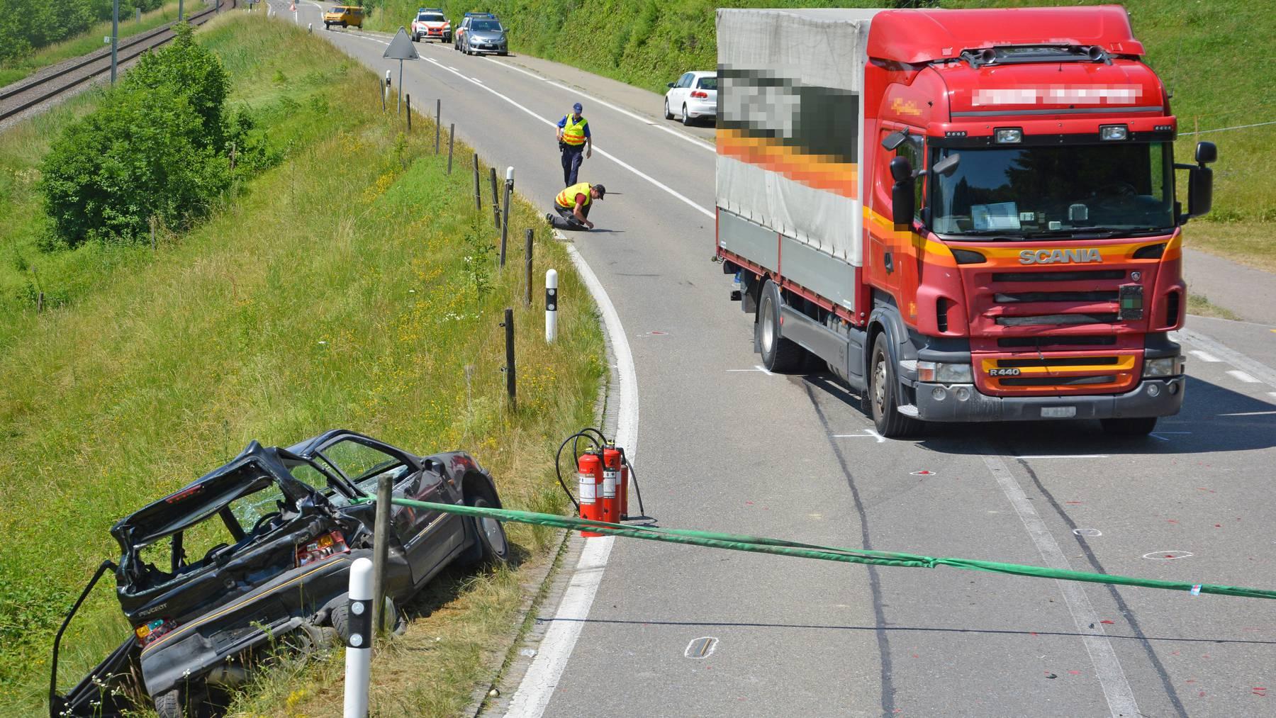 Bei Kradolf-Schönenberg hat sich ein schwerer Unfall ereignet.