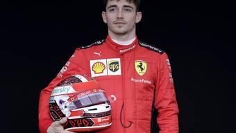 Kann derzeit nur am Computer Rennen fahren - und muss alleine feiern: Ferrari-Pilot Charles Leclerc