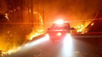 Schwere Buschfeuer
