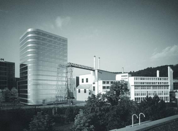 Zwei nahezu identische Bauten sind geplant. Die beiden glatten Rundungen führen zu einer diagonalen Wirkung, die gemäss Jury nicht unbedingt zum industriellen Ort passt. Die Gebäude wirken in dieser Form technoid. Die Gebäudestruktur ist einfach und normal. (rr) Romero & Schaefle Architekten AG, Zürich
