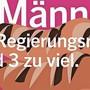 Das Plakat zeigt fünf Würste - gemeint ist der Regierungsrat.