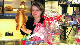 Der Renner: Schin zehn Tage vor dem Chlausetag gehen bei Sarah Sperisen, Verkäuferin der Confiserie Hofer, die Bänzen weg wie warme Weggli.