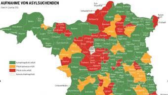Karte Aargau