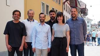 Der Vorstand in der bis zum Maienzug bestehenden Zusammensetzung (v.l.): Dominik Lenzin, Michael Ganz, Marco Salvini, Oliver Gautschy, Carol Vanhoutéghem, Matthias Seifritz.