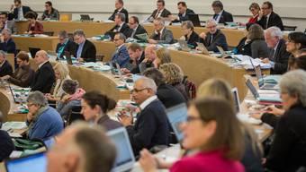 Der Grosse Rat in Aarau Tagt über das Budget. Themenbild Grossrat. Aufgenommen am 7. Dezember 2016 in Aarau.